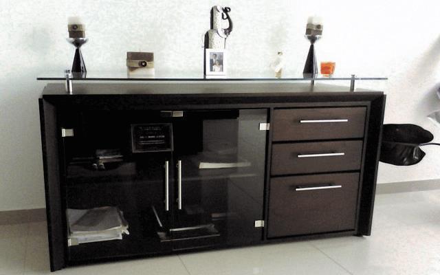 Credenza Con Vidrio : Biblioteca credenza angular en madera y vidrio id producto